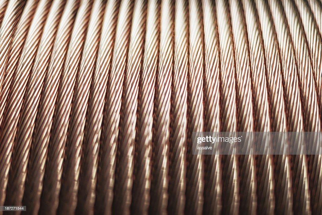 Cobre cordão no cabo de arame acessível por cadeira de rodas : Foto de stock