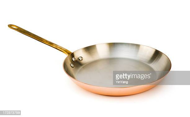 Copper Frying Pan, a Kitchen Cooking Utensil for Skillet Meals