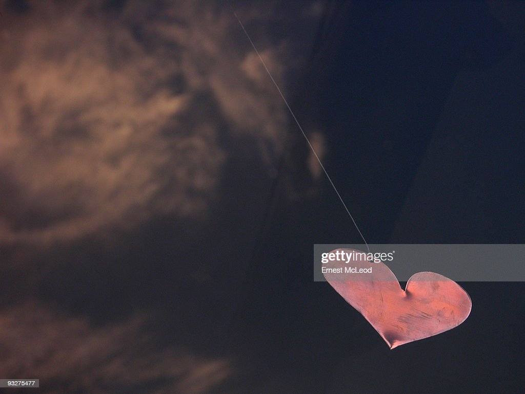 Copper Heart on a String : Stock Photo