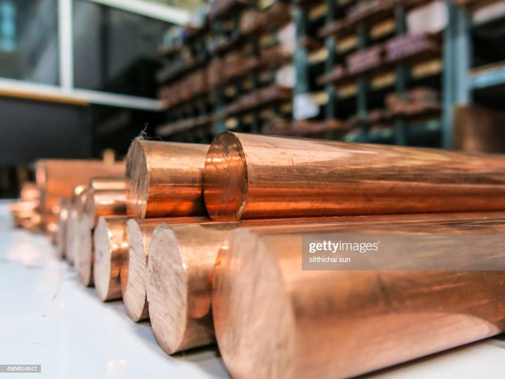Copper material metal raw : Foto de stock