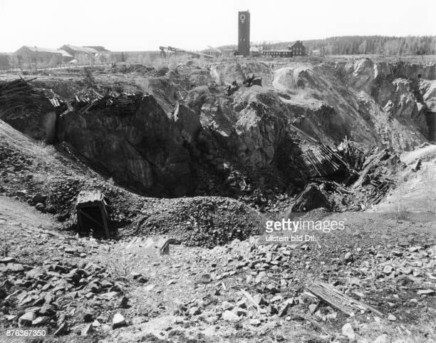Copper mining, Falun Mine in Falun, the great pit