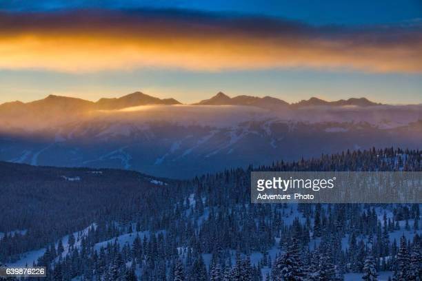 Copper Mountain Colorado Mountain Sunrise Winter
