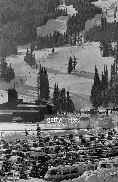 JAN 20 1984 FEB 21 1984 NOV 23 1986 Copper Mountain parking lot as holiday skiers flocked in today