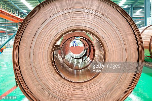 copper reel - jiangxi province stock photos and pictures