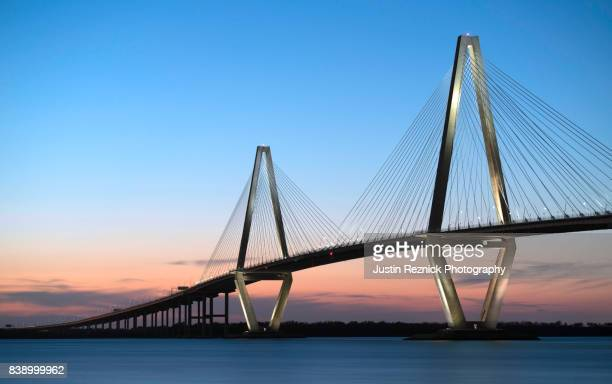 copper river bridge sunset - template_talk:south_carolina stock pictures, royalty-free photos & images