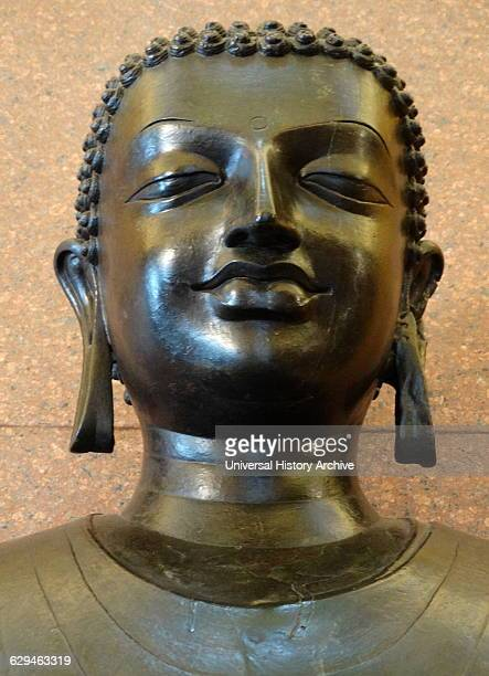 Copper statue of The Sultanganj Buddha from the Gupta Period From Bihar north India Dated 650 AD