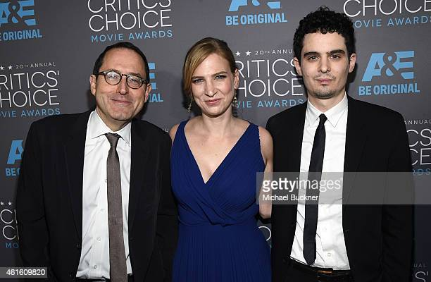 CoPresident and CoFounder of Sony Pictures Classics Michael Barker Producer Helen Estabrook and Filmmaker Damien Chazelle attend the 20th annual...