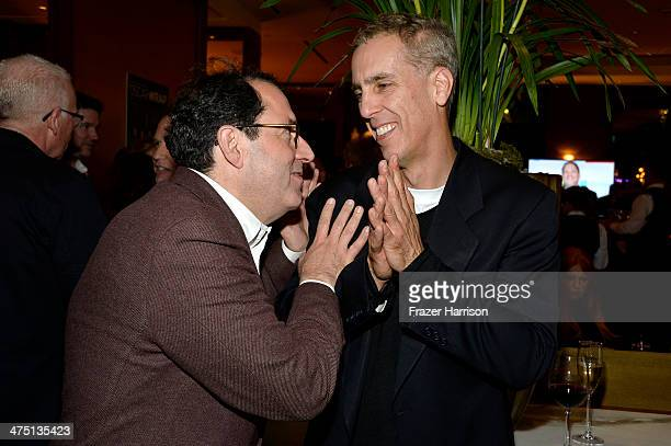 CoPresident and CoFounder of Sony Pictures Classics Michael Barker and animator Chris Sanders attends TheWrap's 5th Annual Oscar Party at Culina...