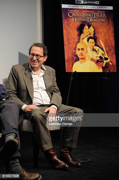 CoPresident and CoFounder of Sony Pictures Classics Michael Barker speaks on stage at the Crouching Tiger Hidden Dragon QA celebrating the 4K Ultra...