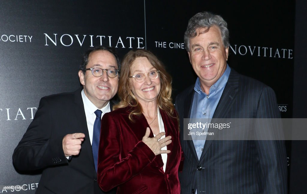 Co-president and co-founder of Sony Pictures Classics Michael Barker, actress Melissa Leo and co-president and co-founder of Sony Pictures Classics Tom Bernard attend the screening of Sony Pictures Classics' 'Novitiate' hosted by Miu Miu and The Cinema Society at The Landmark at 57 West on October 26, 2017 in New York City.