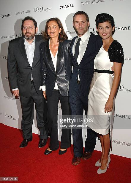 Copresident and cofounder of Sony Pictures Classics Michael Barker Director Anne Fontaine Actor Alessandro Nivola and Actor Audrey Tautou attend the...