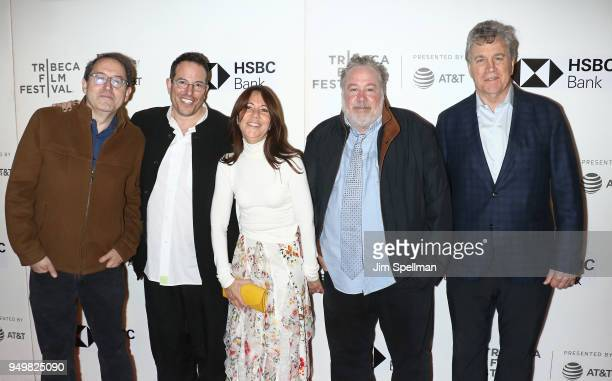 Copresident and cofounder of Sony Pictures Classics Michael Barker director Michael Mayer film producer Leslie Urdang actor Tom Hulce and copresident...