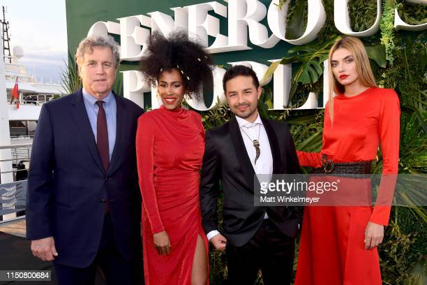 CoPresident and CoFounder of Sony Pictures Classics Tom Bernard Moana Luu Dr David Luu and Alina Baikova attend the 'The Heart Fund' event during the...