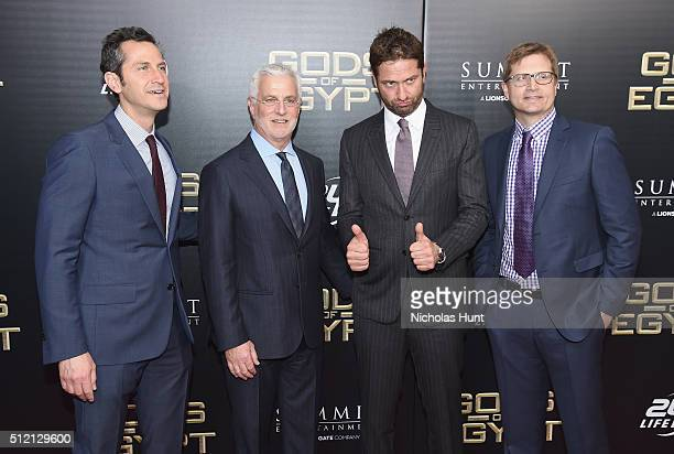 CoPresident at Lionsgate Motion Picture Group Erik Feig Cochairman at Lionsgate Motion Picture Group Rob Friedman actor Gerard Butler and President...