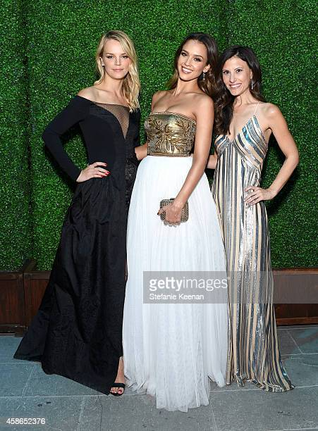 CoPresident of Baby2Baby Kelly Sawyer actress Jessica Alba and copresident of Baby2Baby Norah Weinstein attend the 2014 Baby2Baby Gala presented by...