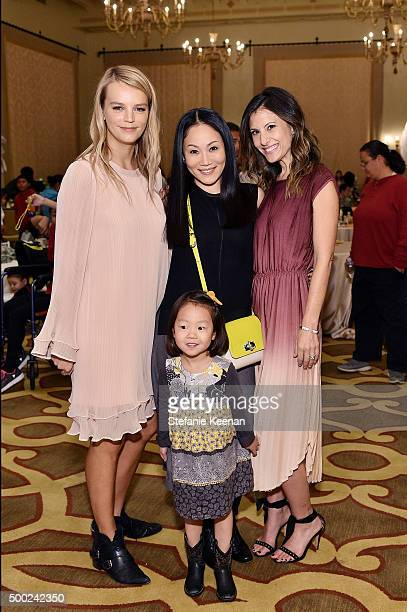 Copresident of Baby2Baby Kelly Sawyer Patricof Mira Lee Madison Lee and copresident of Baby2Baby Norah Weinstein attend the Baby2Baby Holiday Party...