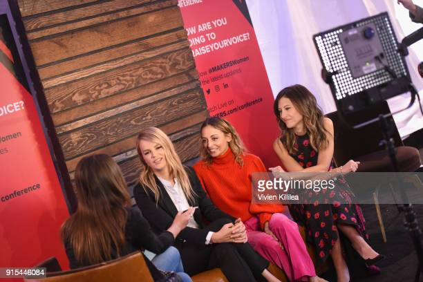 CoPresident of Baby2Baby Kelly Sawyer Patricof Nicole Richie and CoPresident of Baby2Baby Norah Weinstein attend The 2018 MAKERS Conference at...