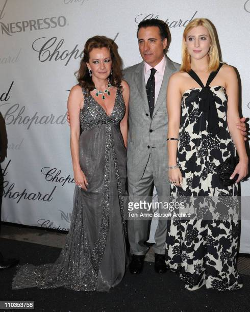 CoPresident of Chopard Caroline Gruosi Scheufele actor Andy Garcia and daughter Dominik GarciaLorido attends the Chopard Trophy Award Party at...