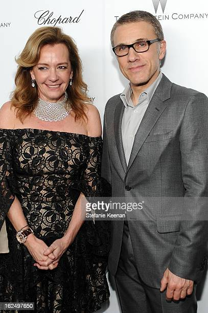 CoPresident of Chopard Caroline Scheufele and actor Christoph Waltz attend The Weinstein Company Academy Award Party hosted by Chopard at Soho House...