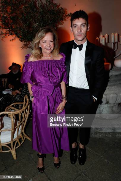 CoPresident of Chopard Caroline Scheufele and Jonathan RhysMeyers attend the Celebrazione Party By Chopard and Generali To Honor The 75th Venice Film...