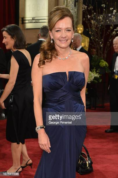 Copresident of Chopard Caroline Scheufele arrives at the Oscars at Hollywood Highland Center on February 24 2013 in Hollywood California
