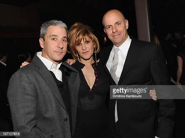 Copresident of Columbia Pictures Matt Tolmac Cochairman Sony Pictures Entertainment Amy Pascal and producer Neal Moritz attend the after party for...