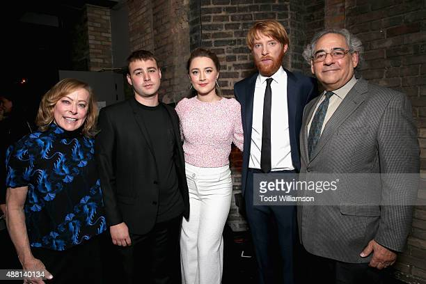 CoPresident of Fox Searchlight Pictures Nancy Utley Actors Emory Cohen Saoirse Ron Domhnall Gleeson and Fox Searchlight Pictures Inc and CoPresident...