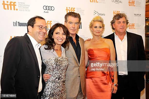 CoPresident of Sony Pictures Classics Michael Barker director Susanne Bier actors Pierce Brosnan and Trine Dyrholm and CoPresident of Sony Pictures...
