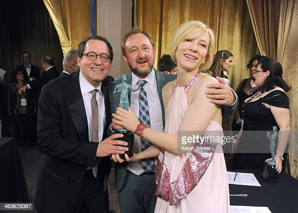 CoPresident of Sony Pictures Classics Michael Barker screenwriter Andrew Upton and actress Cate Blanchett attend the 20th Annual Screen Actors Guild...