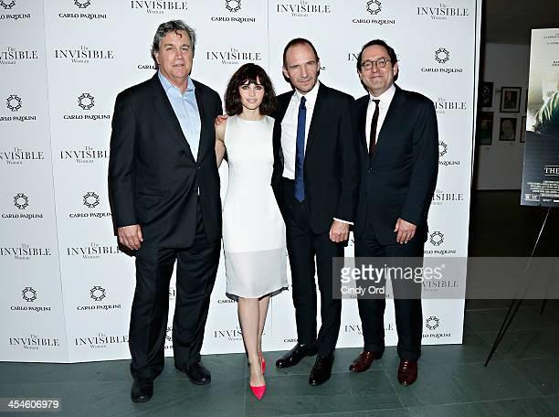 CoPresident of Sony Pictures Classics Tom Bernard actress Felicity Jones actor Ralph Fiennes and CoPresident of Sony Pictures Classics Michael Barker...