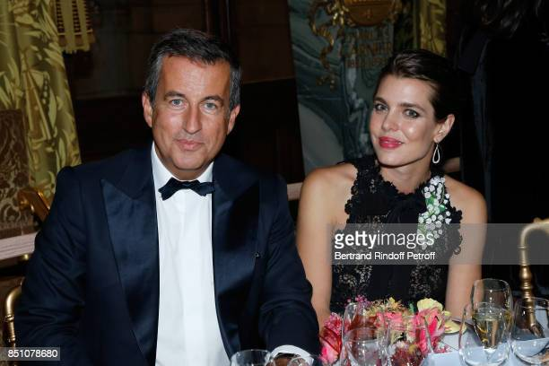 CoPresident of the Opening Gala Cyril Karaoglan and Charlotte Casiraghi attend the Opening Season Gala Ballet of Opera National de Paris Held at...