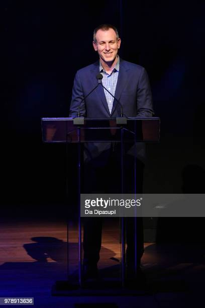 CoPresident of United Talent Agency David Kramer speaks onstage during Lincoln Center Corporate Fund's Stand Up Sing for the Arts at Alice Tully Hall...