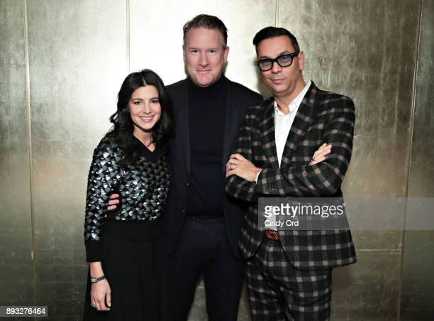 CoPresident The Outnet Shira Suveyke Designer Todd Snyder and VP Creative and Fashion Director Modern Luxury James Aguiar attend as Manhattan...