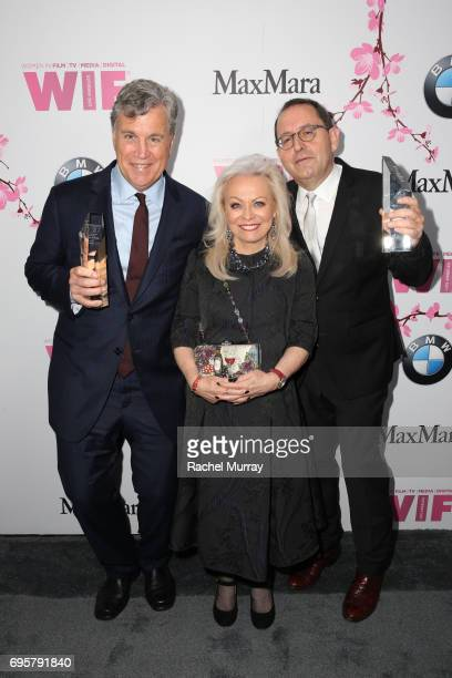 CoPresidents CoFounders of Sony Pictures Classics and The Women In Film Beacon Award Honorees Tom Bernard and Michael Barker and actress Jacki Weaver...