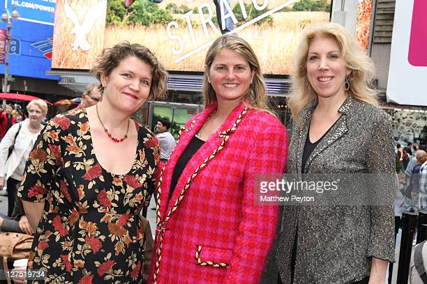 Copresidents Kristin Marting and Lorca Peress pose with producer Bonnie Comley during the League of Professional Theatre Women 30th Anniversary with...
