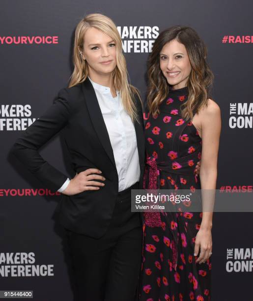 CoPresidents of Baby2Baby Kelly Sawyer Patricof and Norah Weinstein attend The 2018 MAKERS Conference at NeueHouse Hollywood on February 7 2018 in...