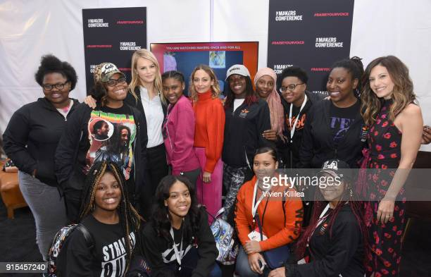 CoPresidents of Baby2Baby Kelly Sawyer Patricof Norah Weinstein Nicole Richie and The Lethal Ladies of BLSYW attend The 2018 MAKERS Conference at...