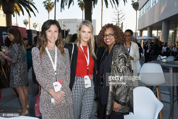 CoPresidents of Baby2Baby Norah Weinstein and Kelly Sawyer Patricof attend The 2018 MAKERS Conference at NeueHouse Hollywood on February 5 2018 in...