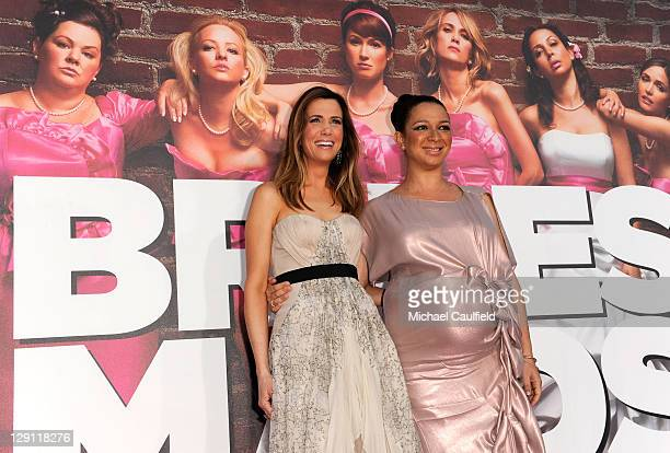"""Co-Producer and writer Kristen Wiig and actress Maya Rudolph arrive at the premiere of Universal Pictures' """"Bridesmaids"""" held at Mann Village Theatre..."""