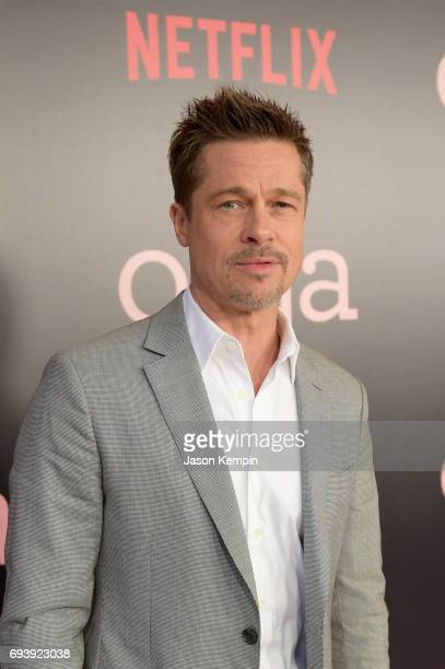 "Co-Producer Brad Pitt attends ""Okja"" New York Premiere at AMC Loews Lincoln Square 13 on June 8, 2017 in New York City."