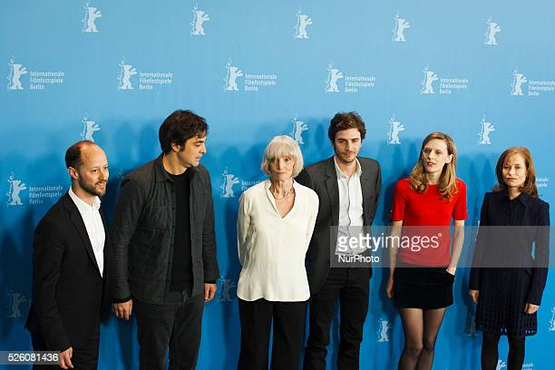 Coproducer Fabian Gasmia producer Charles Gillibert actress Edith Scob actor Roman Kolinka director Mia HansenLove and actress Isabelle Huppert...