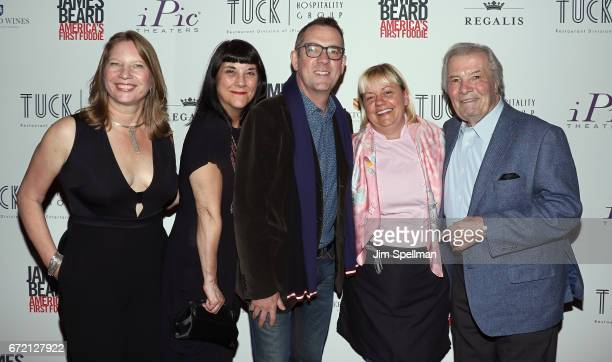 Coproducer Kathleen Squires director Beth Federici TV personality Ted Allen Sherry Yard and Chef Jacques Pepin attend the James Beard America's First...