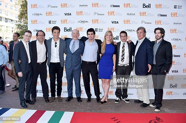 CoProducer Nicholas Britell copresident of Sony Pictures Classics Michael Barker actor Miles Teller actor JK Simmons writer/ director Damien Chazelle...