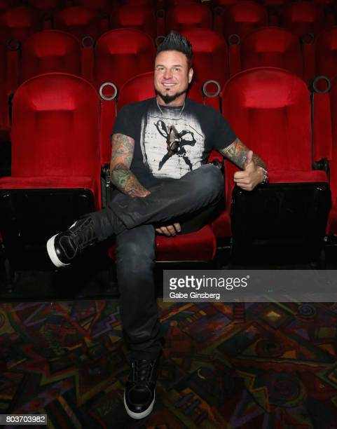 Coproducer of 'Hired Gun Out of the Shadows into the Spotlight' guitarist Jason Hook of Five Finger Death Punch attends a meetandgreet and screening...