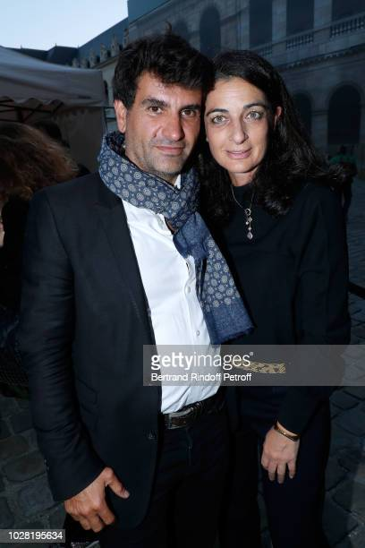 CoProducer of the event Tristan Duval and Rachel Marouani attend the Carmen Opera en Plein Air performance at Les Invalides on September 6 2018 in...