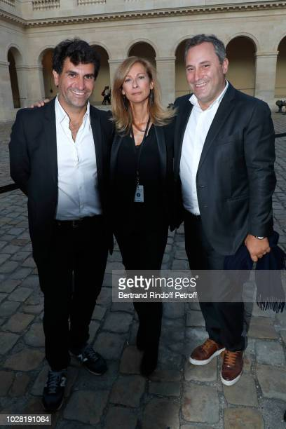 CoProducer of the event Tristan Duval Music Booking Orchestra of the Opera Anne Gravoin and Coproducer of the event Benjamin Patou attend the Carmen...