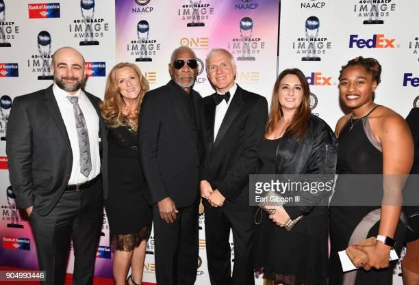 Coproducer Reza Riazi executive producer Lori McCreary host and executive producer Morgan Freeman writer and executive producer James Younger...