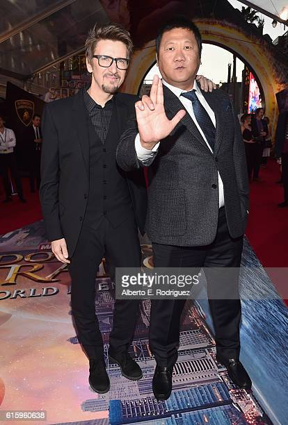 """Coproducer Scott Derrickson and actor Benedict Wong attend The Los Angeles World Premiere of Marvel Studios' Doctor Strange"""" in Hollywood CA on Oct..."""
