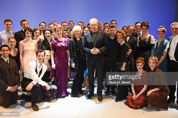 Co-Producer Sybil Robson Orr, Warren Beatty, Andy Serkis and Lorraine Ashbourne pose backstage with cast members including Robert Fairchild, Zoe...