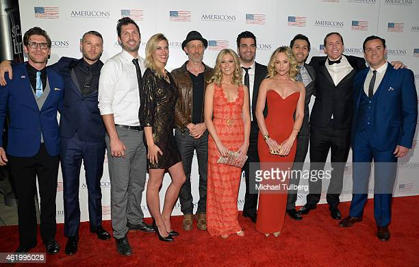 Co-Producer Taylor Hart and actors Matt Funke, Brian Thomas Smith, Michelle Lombardo, John Gries, Alyshia Ochse, producer Michael Masini, producer...